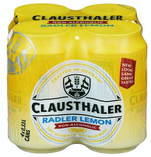 Clausthaler Clausthaler Radler Lemon 4 x 0,33l, 1,32 l