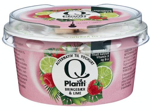 Q-meieriene Planti Yoghurt Med Bringebær & Lime 150 g
