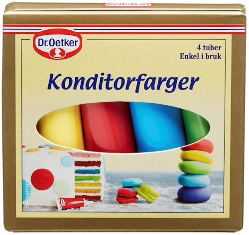 Dr. Oetker Konditorfarger 4 x 10g, 40 g