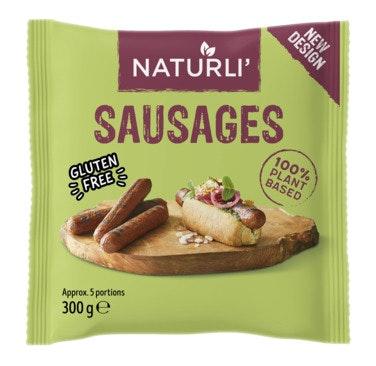 Naturli' Pølser vegansk 5 stk, 300 g