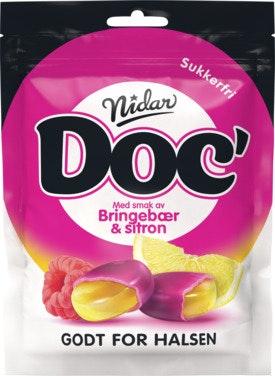 Nidar Doc Halslinser Bringebær & Sitron Årets Smak, 50 g