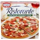 Pizza Ristorante Salame Mozzarella Pesto