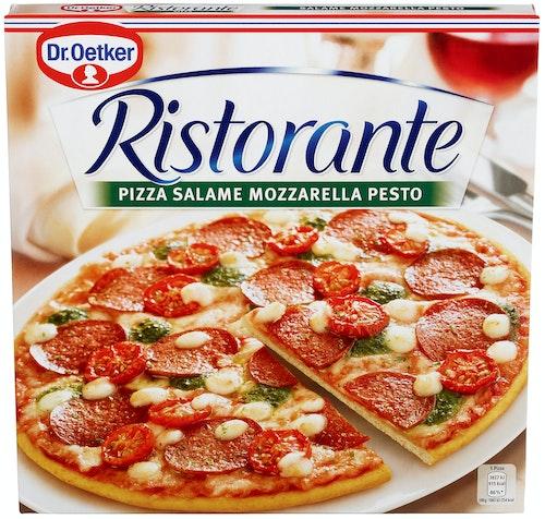 Dr. Oetker Pizza Ristorante Salame Mozzarella Pesto 360 g