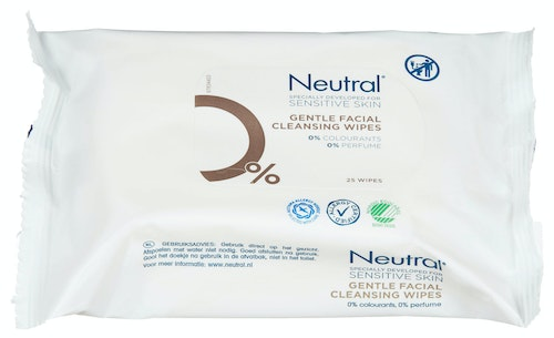 Neutral Makeup Remover Wipes 25 stk