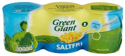 Green Giant Saltfri Mais 3x160g, 480 g