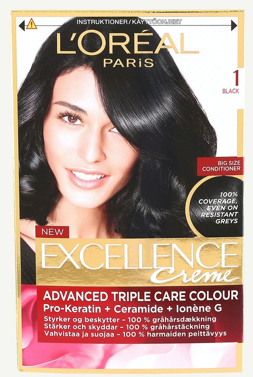L'Oreal Excellence 1 Sort 1 stk