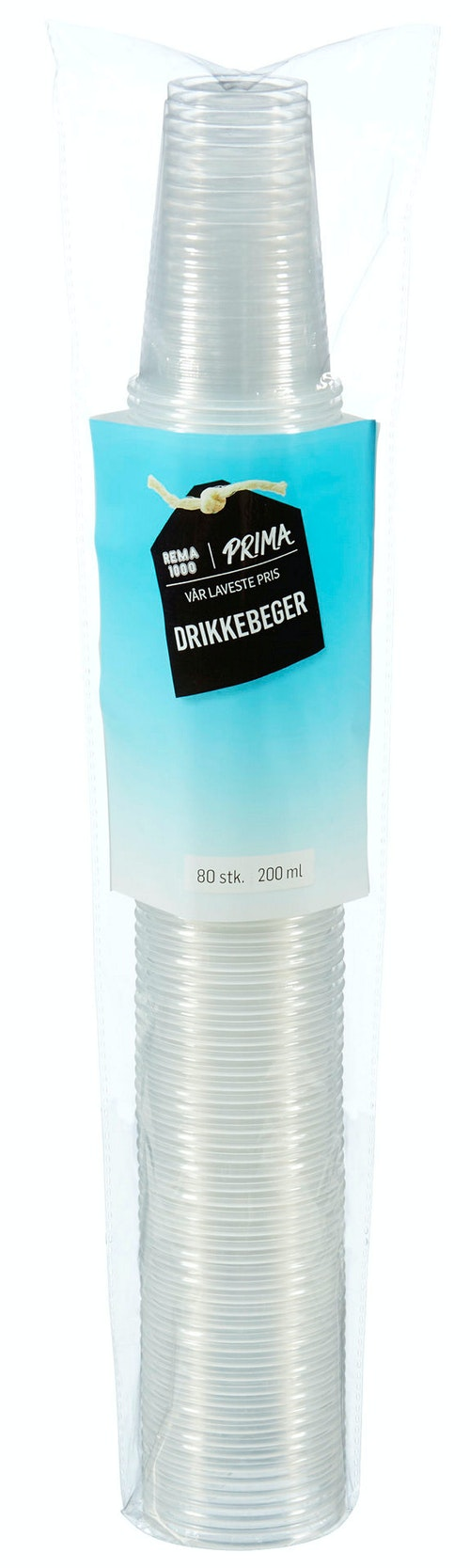 Prima Drikkebeger 200 ml, 80 stk