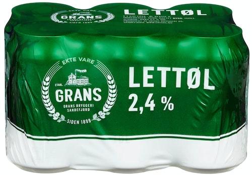 Grans Bryggeri Grans Lettøl 6 x 0,33l, 1,92 l