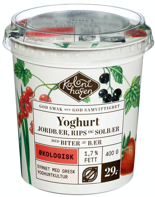Kolonihagen Yoghurt Med Skogsbær Økologisk, 400 g