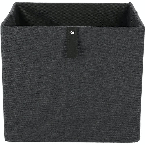 Clas Ohlson Oppbevaringsboks kvadrat Svart, 1 stk