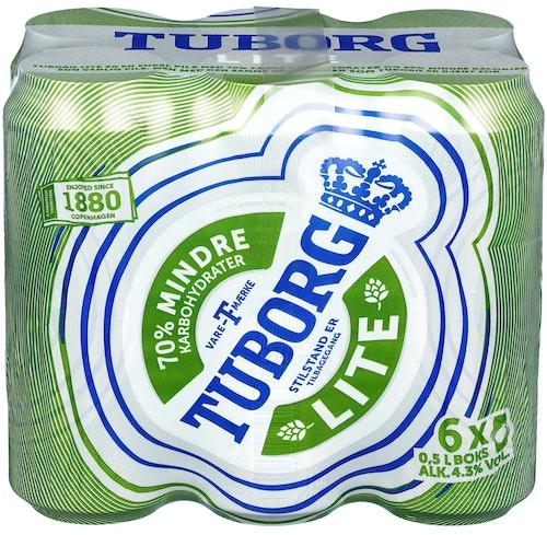 Tuborg Tuborg Lite 6 x 0,5l, 3 l