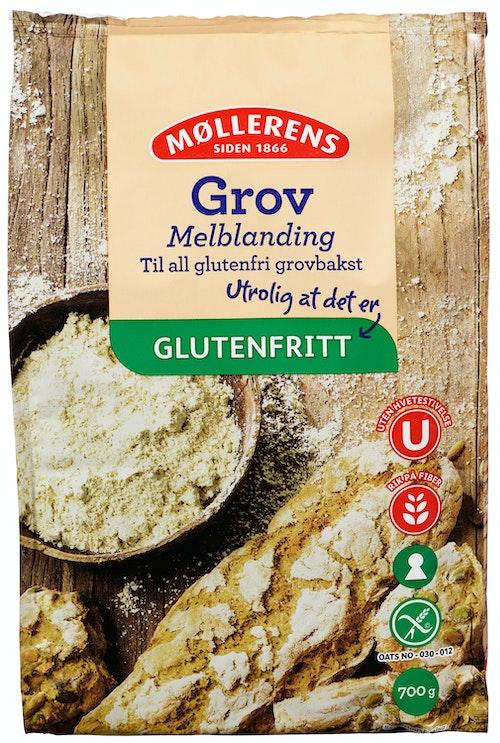 Møllerens Grov Melblanding Glutenfri, 700 g