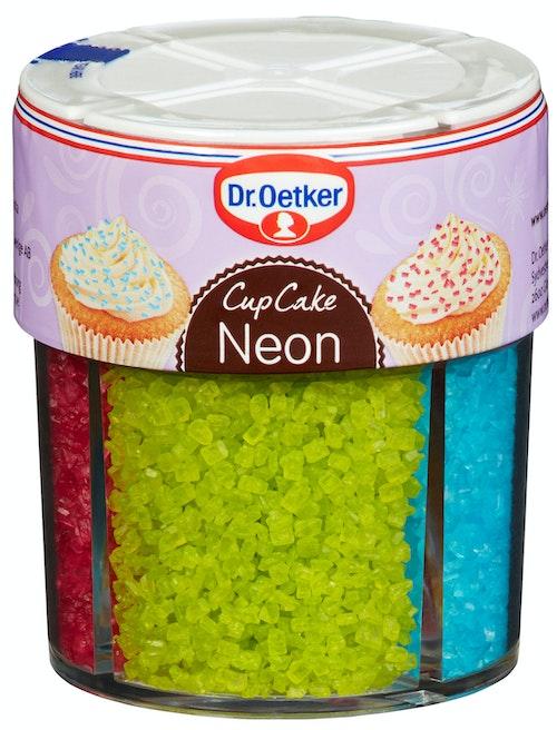 Dr. Oetker Kakepynt Neon 4 kammer, 100 g