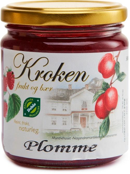 Kroken Frukt & Bær Håndlaget Økologisk Plommesyltetøy 300 g