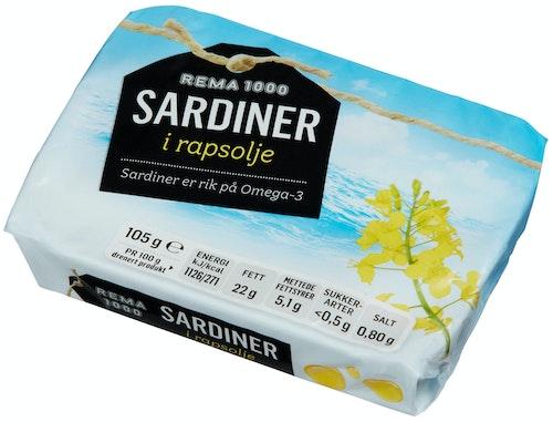 REMA 1000 Sardiner I Olje 105 g