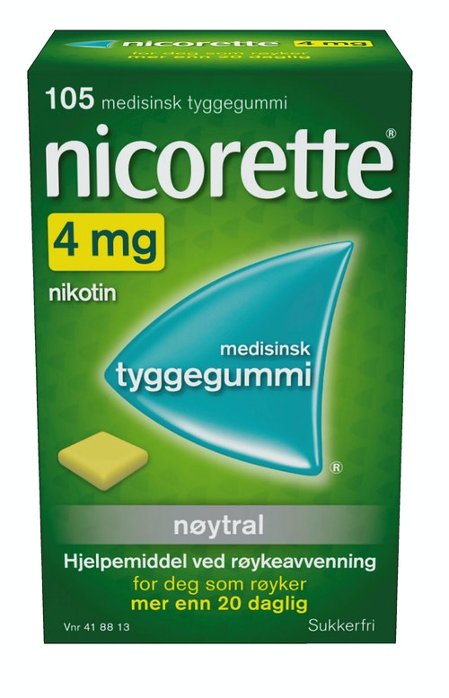 Nicorette Nicorette Classic 4mg, 105 stk