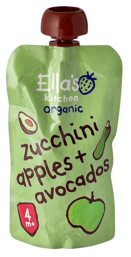 Ella's Kitchen Squash Eple + Avokado Fra 4 mnd, 120 g