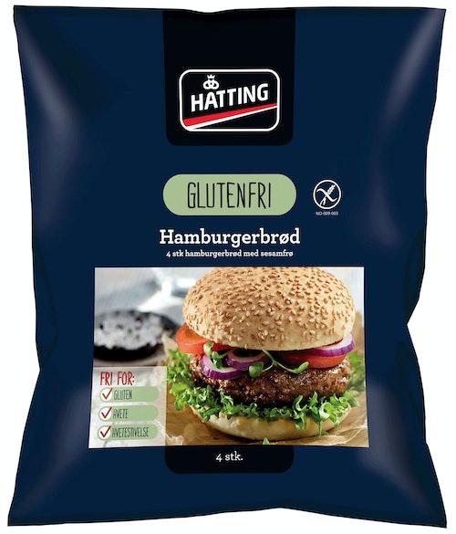 Hatting Glutenfrie Hamburgerbrød 4 stk, 320 g