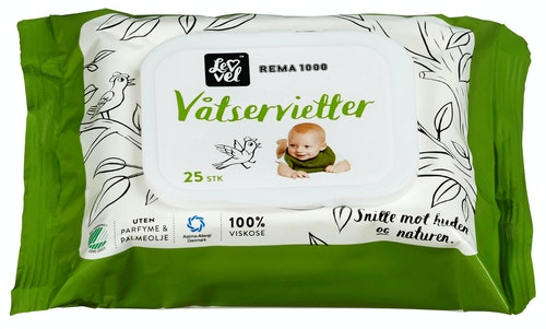 REMA 1000 Våtservietter 25 stk