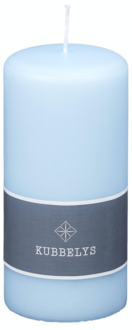 Kubbelys Lys Blå 7x15 cm, 1 stk
