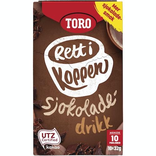 Toro Sjokoladedrikk, Rett i Koppen 10 poser, 10 stk