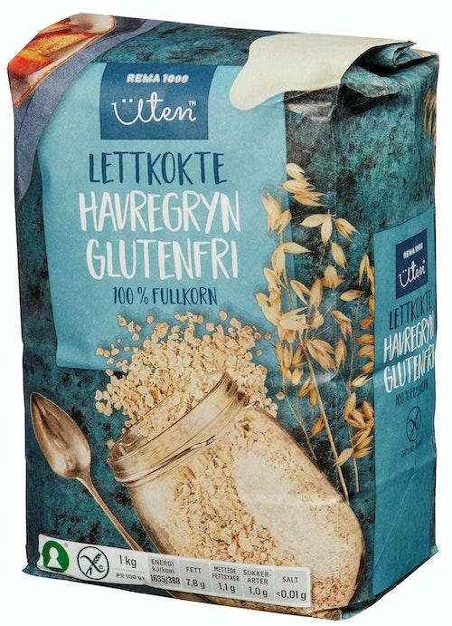 REMA 1000 Havregryn Lettkokte Glutenfri, 1 kg