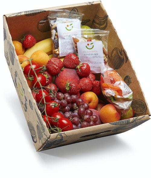 Luksus Fruktkurv Miks av frukt nå med norske epler, 4,5 kg