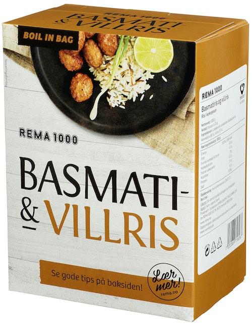 REMA 1000 Basmatiris Villris 8 x 125g, Boil-in-bag, 1 kg