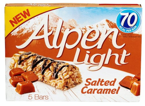 Alpen Alpen Bars Light Saltet Caramel, 5 stk, 95 g