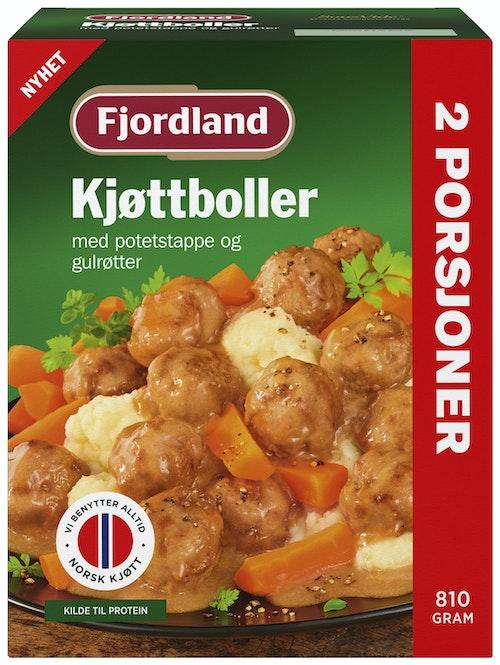 Fjordland Kjøttboller i Fløtesaus Potetmos & Gulrøtter, 810 g