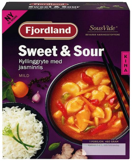 Fjordland Kyllinggryte Sweet & Sour Med Jasminris, 460 g