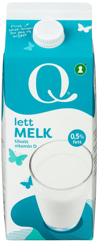 Q-meieriene Q Melk Lett 0,5%, 1,75 l