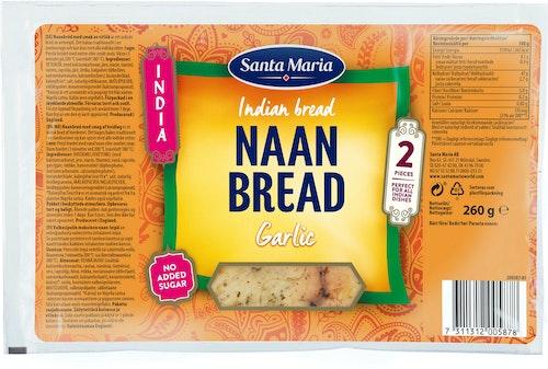 Santa Maria Naan Bread Garlic 260 g