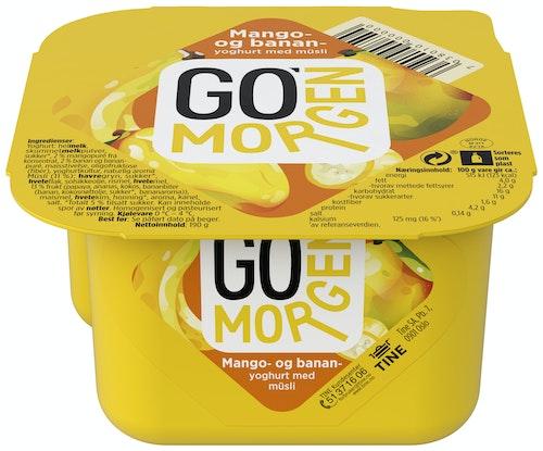 Tine Go' Morgen Mango- og banan med fruktmüsli, 195 g