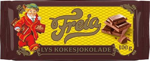 Freia Lys Kokesjokolade 100 g