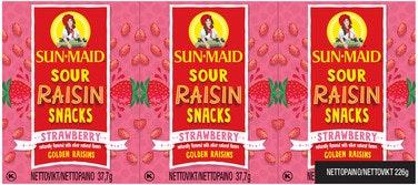 Sun·Maid Rosiner Sour Strawberry 6 x 37,7g, 226,2 g