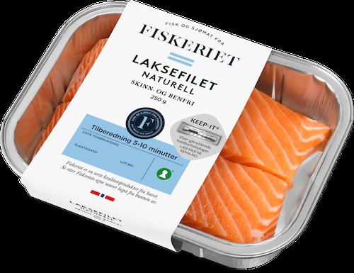 Fiskeriet Laksefilet uten Skinn 250 g