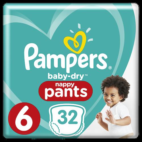 Pampers Pampers Bleie Baby Dry Pants Str.6 15+kg, 32 stk