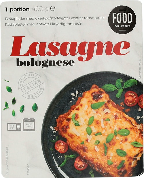 Food Collective Lasagne Bolognese 400 g