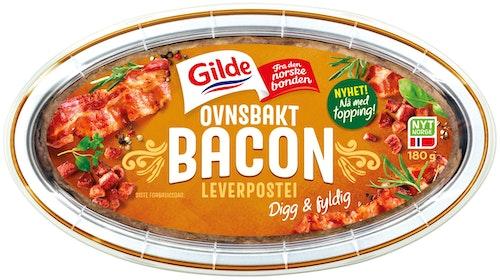 Gilde Ovnsbakt Leverpostei Med Bacon, 180 g