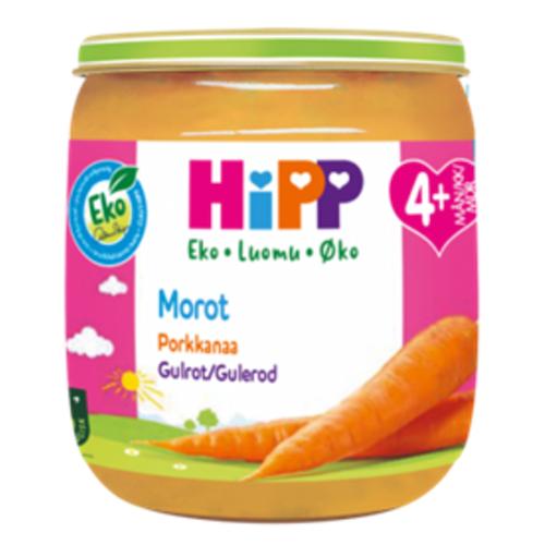 Hipp Hipp Gulrot Fra 4 mnd, 125 g