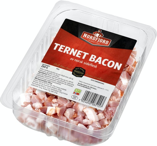 Nordfjord Bacon i Terninger 250 g