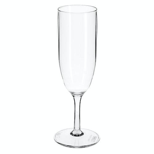 Clas Ohlson Champagneglass i plast 16 cl, 1 stk