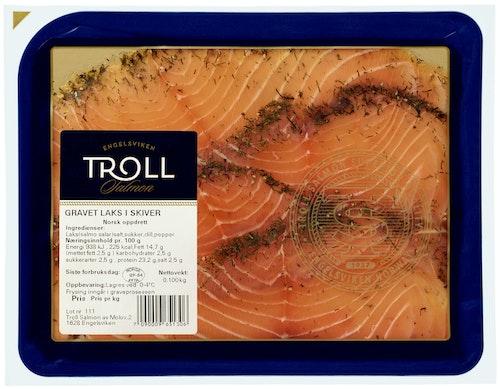 Troll Salmon Gravet Laks i Skiver 100 g