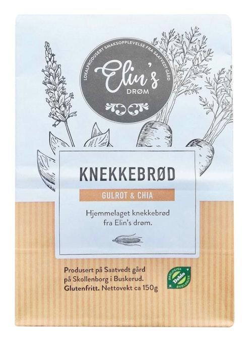 Elins Drøm Knekkebrød Chia & Gulrot 150 g
