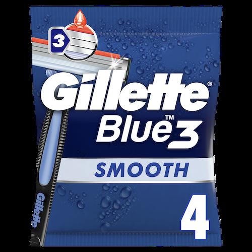 Gillette Gillette Engangshøvel Blue3 Smooth 4 stk