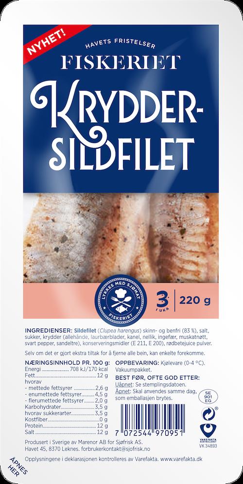Fiskeriet Kryddersildfilet 220 g