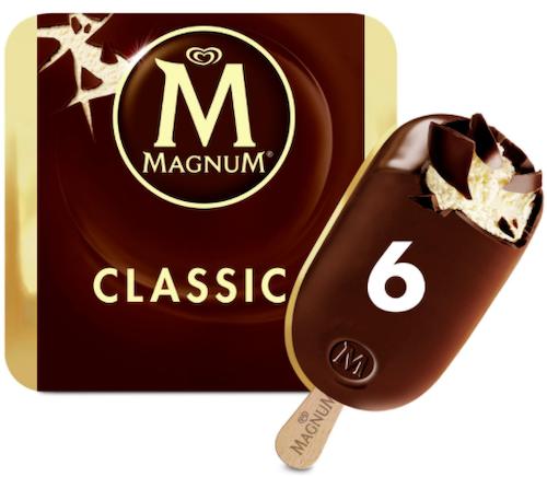 Magnum Magnum Classic Ispinne 6 stk, 660 ml