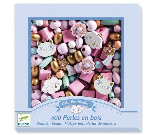 Djeco Rosa perler i tre 1 stk