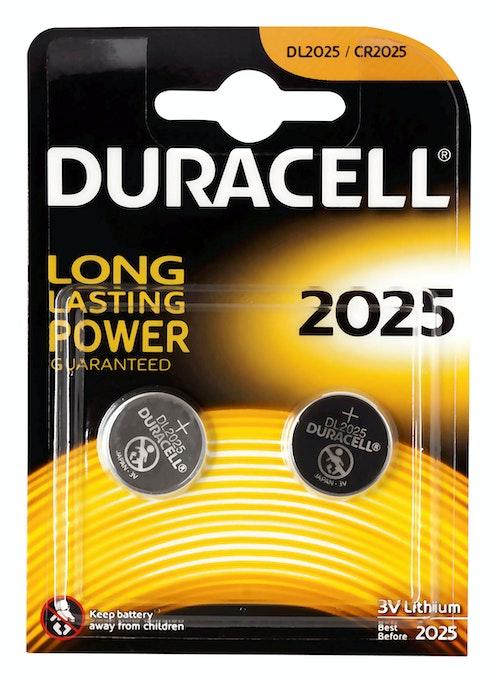 Duracell Batteri 2025 3V Lithium 2 stk